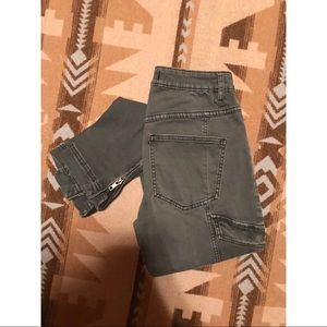 Free People Cargo Jeans
